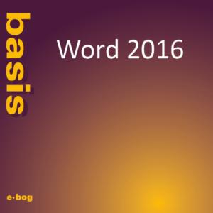 Word 2016, basis e-bog, IT Univers